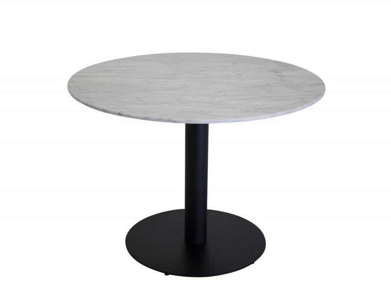 Estelle runt matbord Ø 106 cm svartvit marmor (Hem
