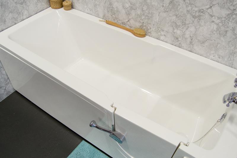 litet badkar på tassar