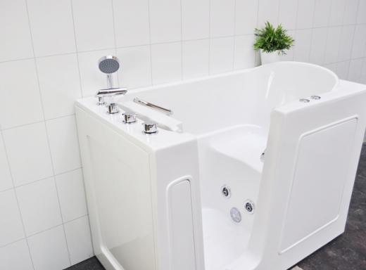 sittbadkar med dusch